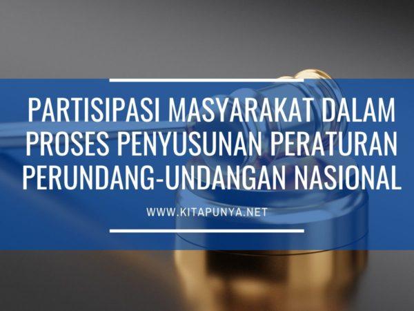partisipasi masyarakat dalam penyusunan peraturan perundang-undangan