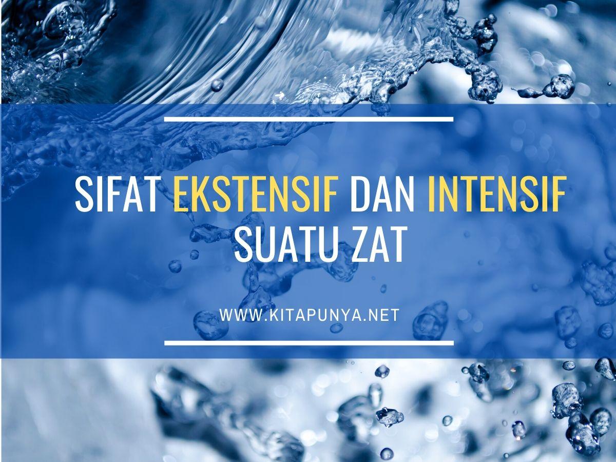 sifat ekstensif dan intensif suatu zat
