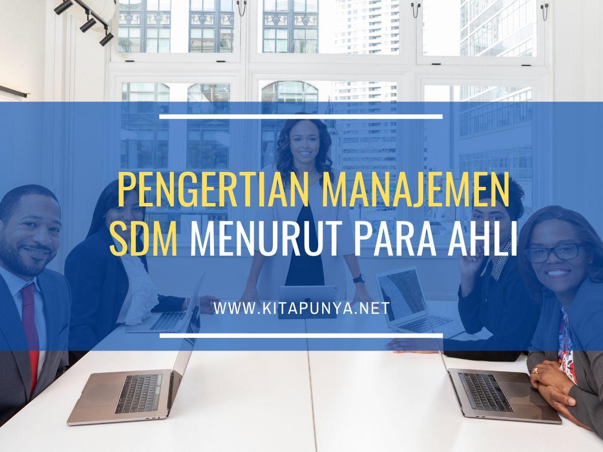 pengertian manajemen sdm menurut para ahli