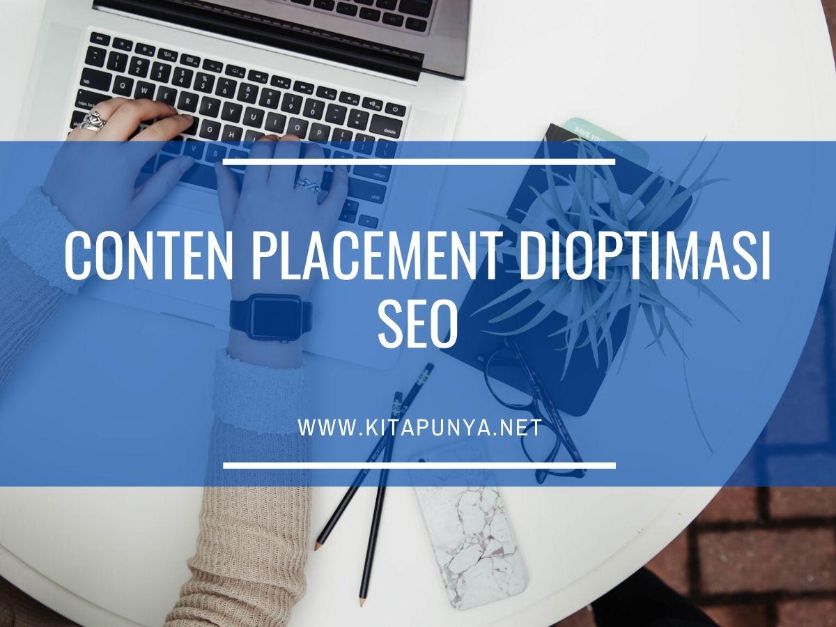 content placement dioptimasi seo