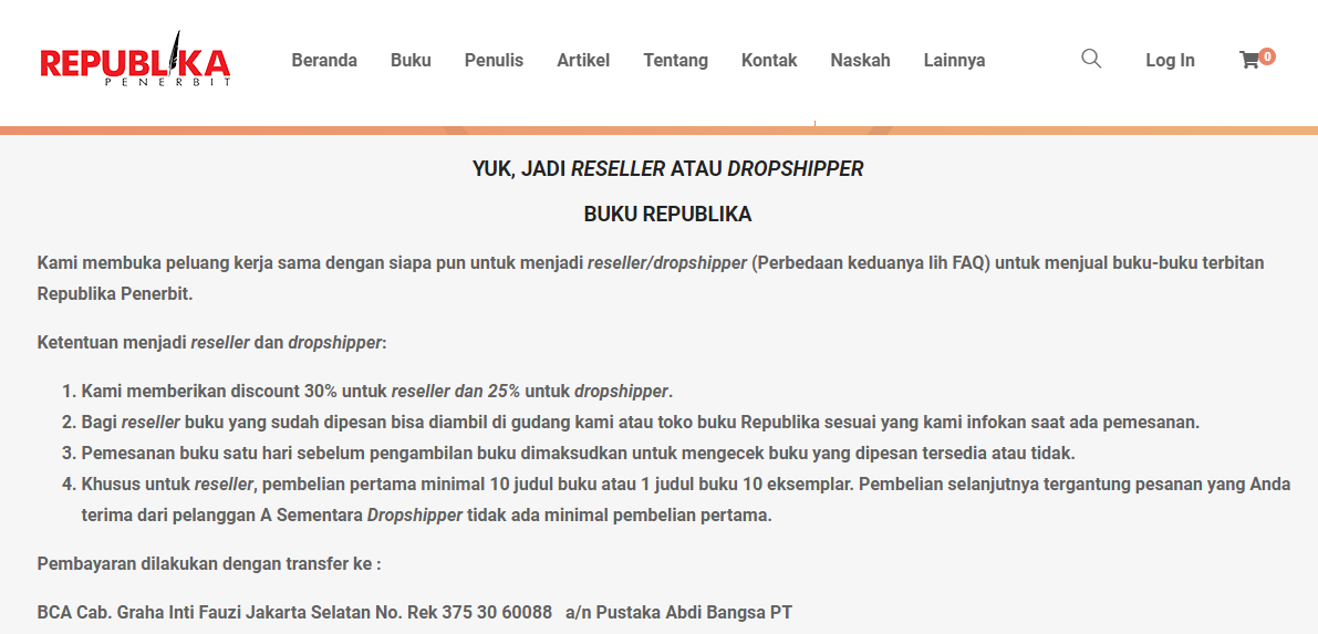 dropship di buku republika