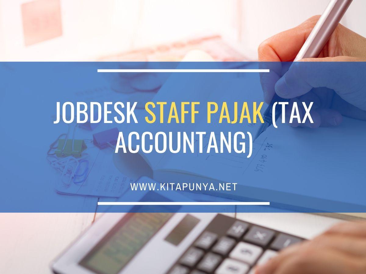 jobdesk staff pajak