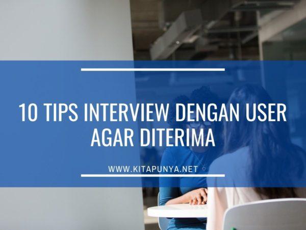 tips interview dengan user