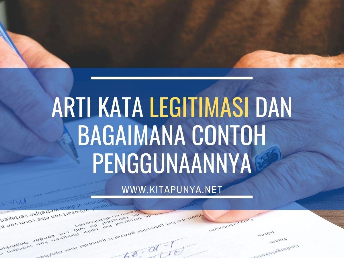 arti kata legitimasi