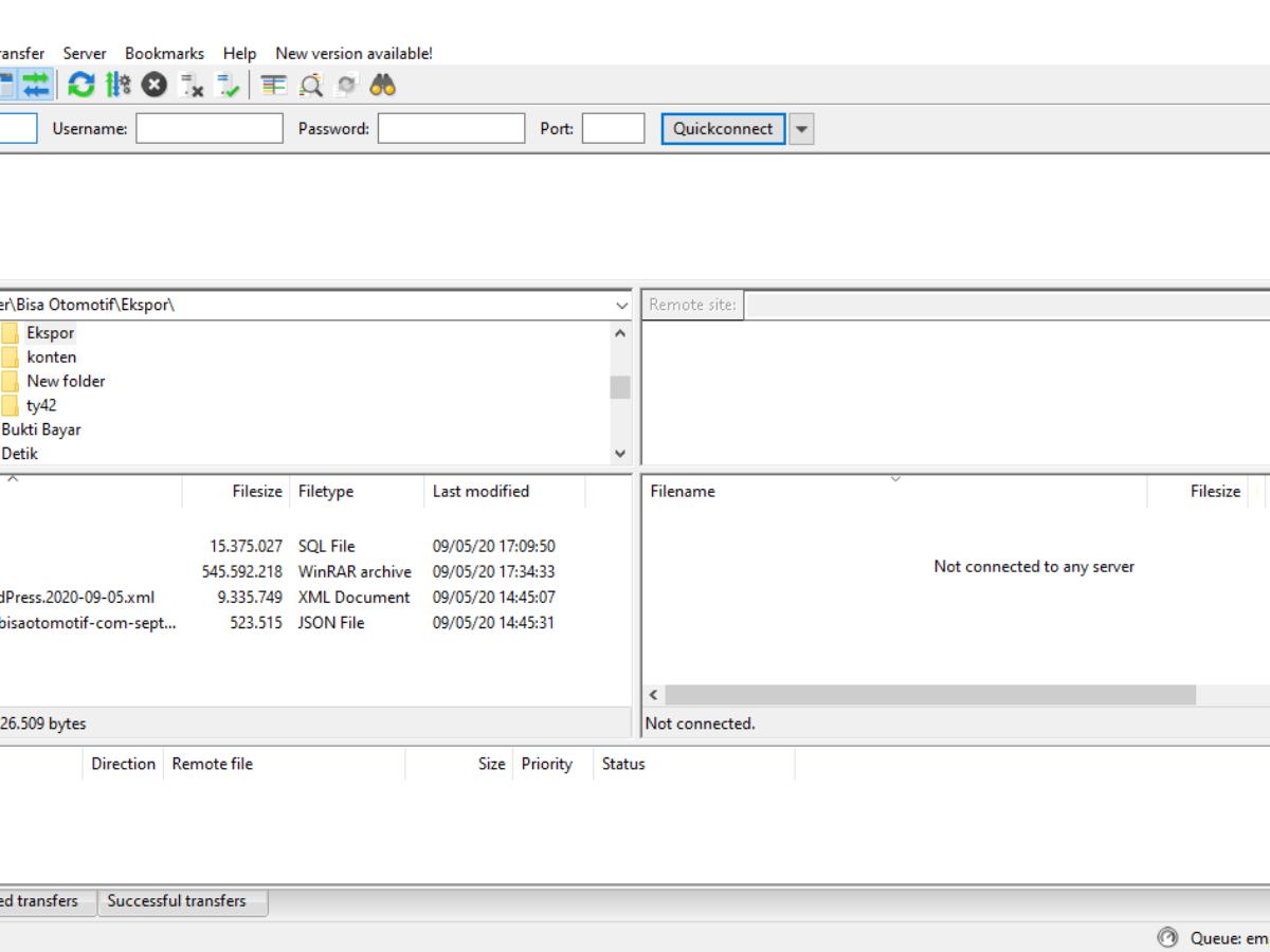 file zilla untuk belajar vps