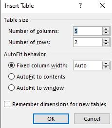 cara memasukkan tabel