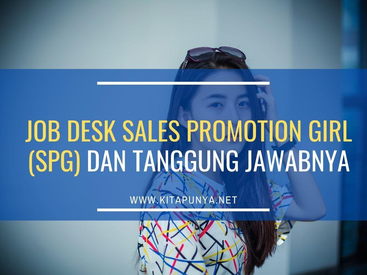 Jobdesk sales promotion girl