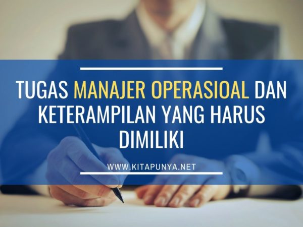 tugas manajer operasional