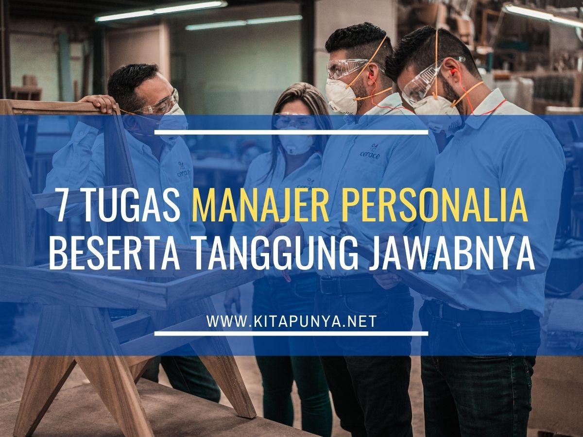 tugas manajer personalia