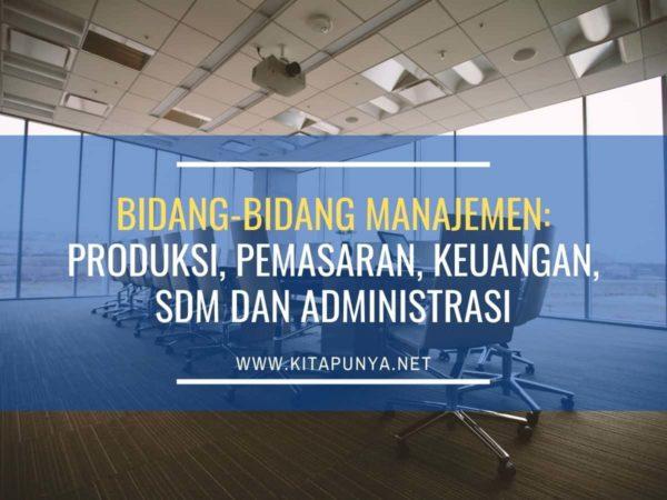 bidang bidang manajemen
