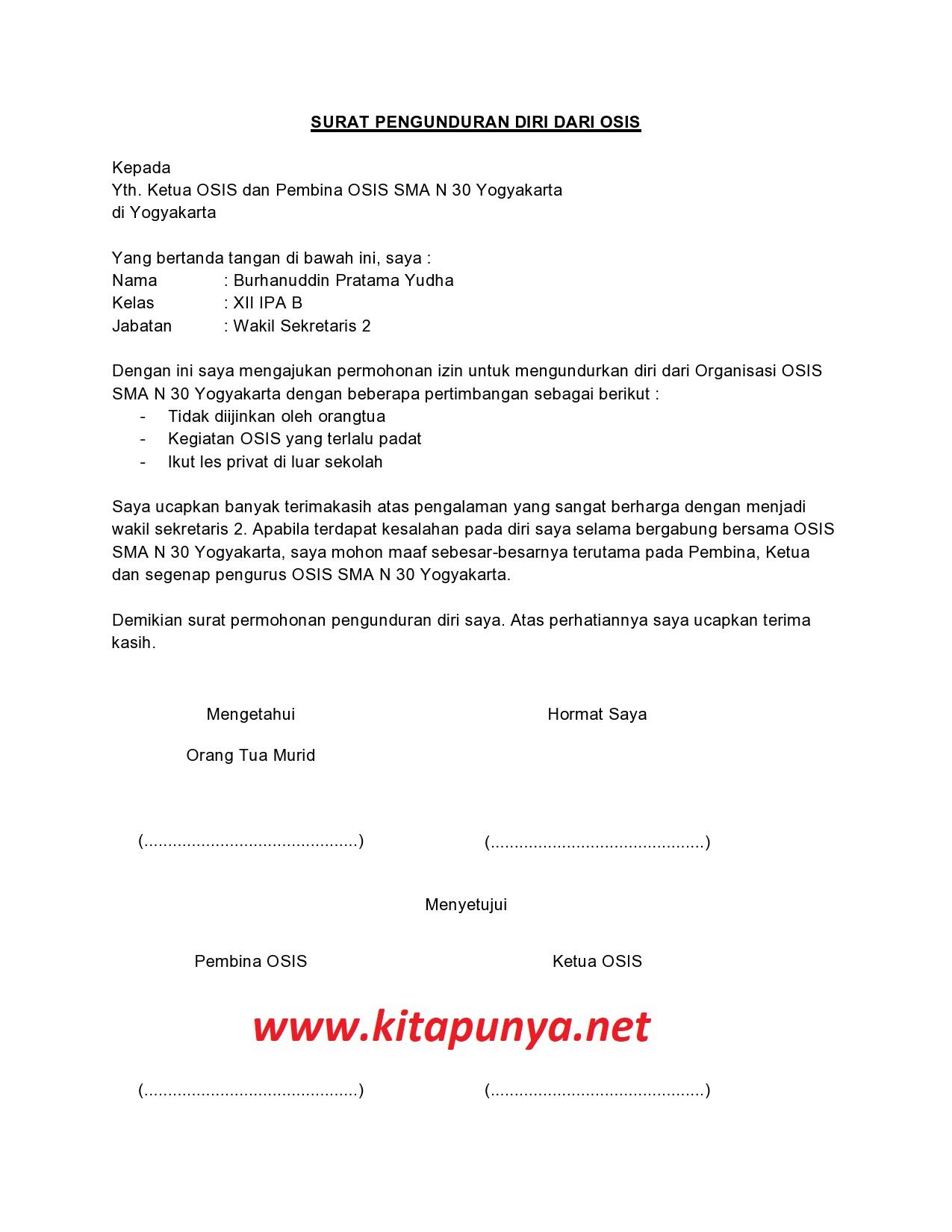 10++ Contoh surat pernyataan mengundurkan diri terbaru terbaru