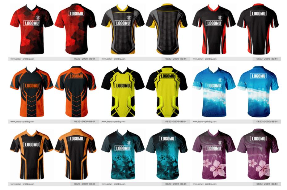 contoh desain jersey futsal