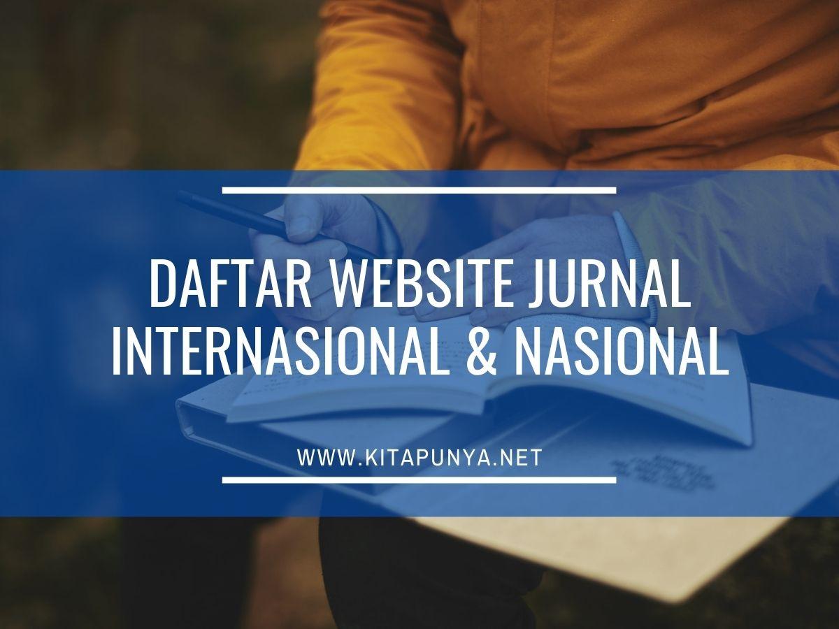 daftar website jurnal internasional dan nasional