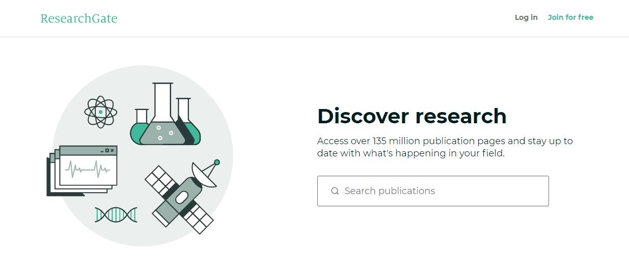 research gate website mencari jurnal