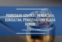 perbedaan advokat dan pengacara dan konsultan